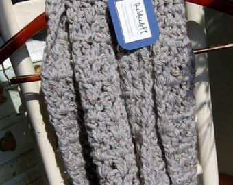 Crochet Infinity Scarf Chunky Double Loop Infinity Scarf