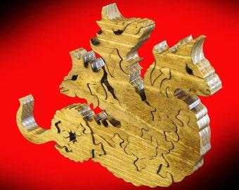 Three Headed Hydra Fantasy Puzzle.......