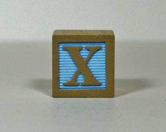 Tan on Light Blue  (Sample Wooden Block Color)