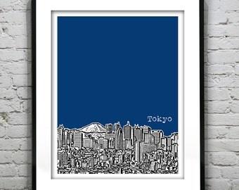 Tokyo Japan Skyline Poster Art Print Travel