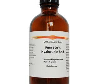100% Hyaluronic Acid Firming Anti Aging Serum Large Refill 4oz