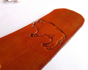Leather Keychain - American Bison