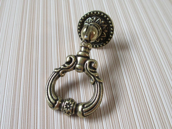 Dresser drawer pulls handles knobs drop pull ring by lynnshardware - Drop pulls for cabinets ...