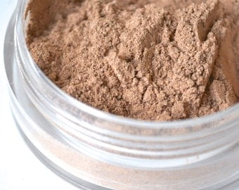 Almond mineral foundation makeup, four in one mineral powder, natural pigments, cruelty free
