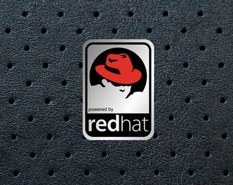 Aluminum Redhat Case Badge Sticker