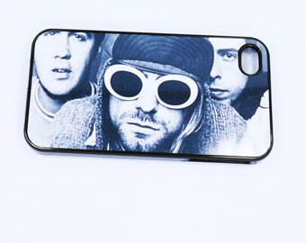 iphone 7 5 iphone 6  4S Nirvana Rock Stars  Music Concert Band case mobile cell Phone case cover cell phone snap case black blue