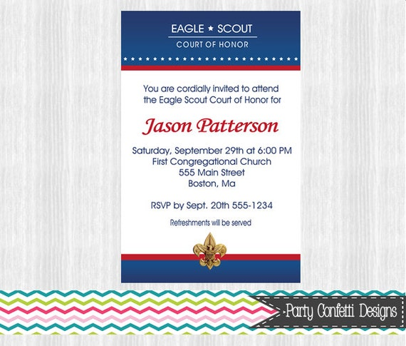 eagle scout powerpoint template - eagle scout court of honor invitations