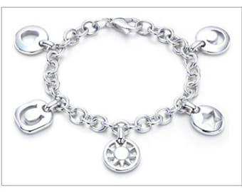 AAA 925 sterling silver, bracelet, one size 8