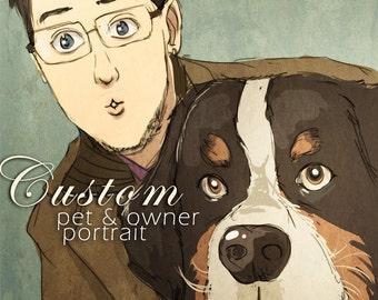 Custom Pet & Owner Portrait