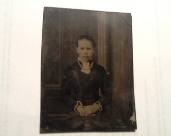 Very Old Tin Type Picture