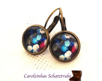 Through the Night - earrings Blue