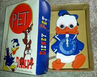 Vintage Mi-Ken Donald Duck Clock