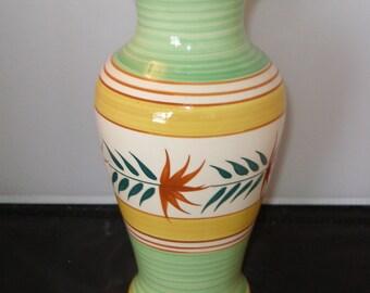 Vintage SPRING GREEN Flower VASE