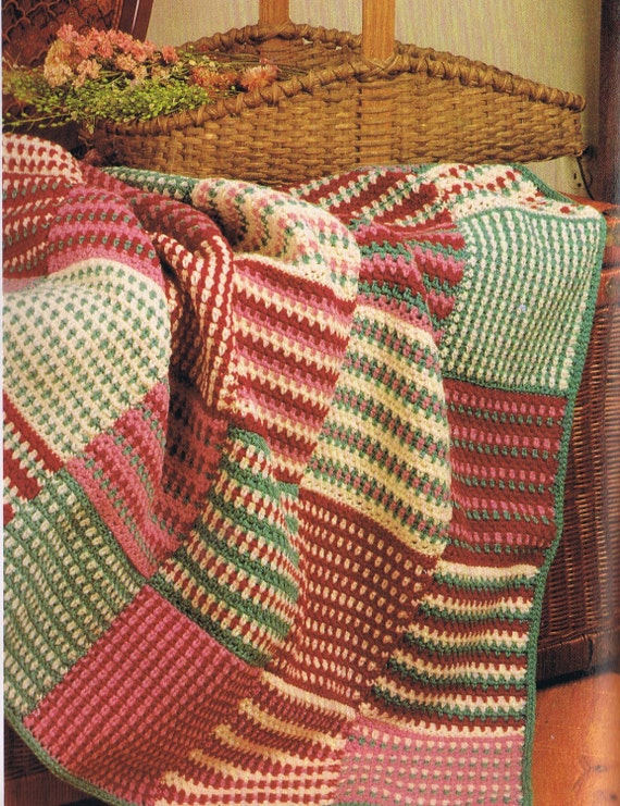 Crochet Beginner Afghan Patterns : INSTANT DOWNLOAD vintage baby afghan throw by yarnaroundhook