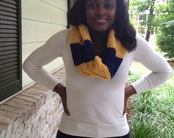 Team Spirit Crochet Cowl/Hooded Scarf