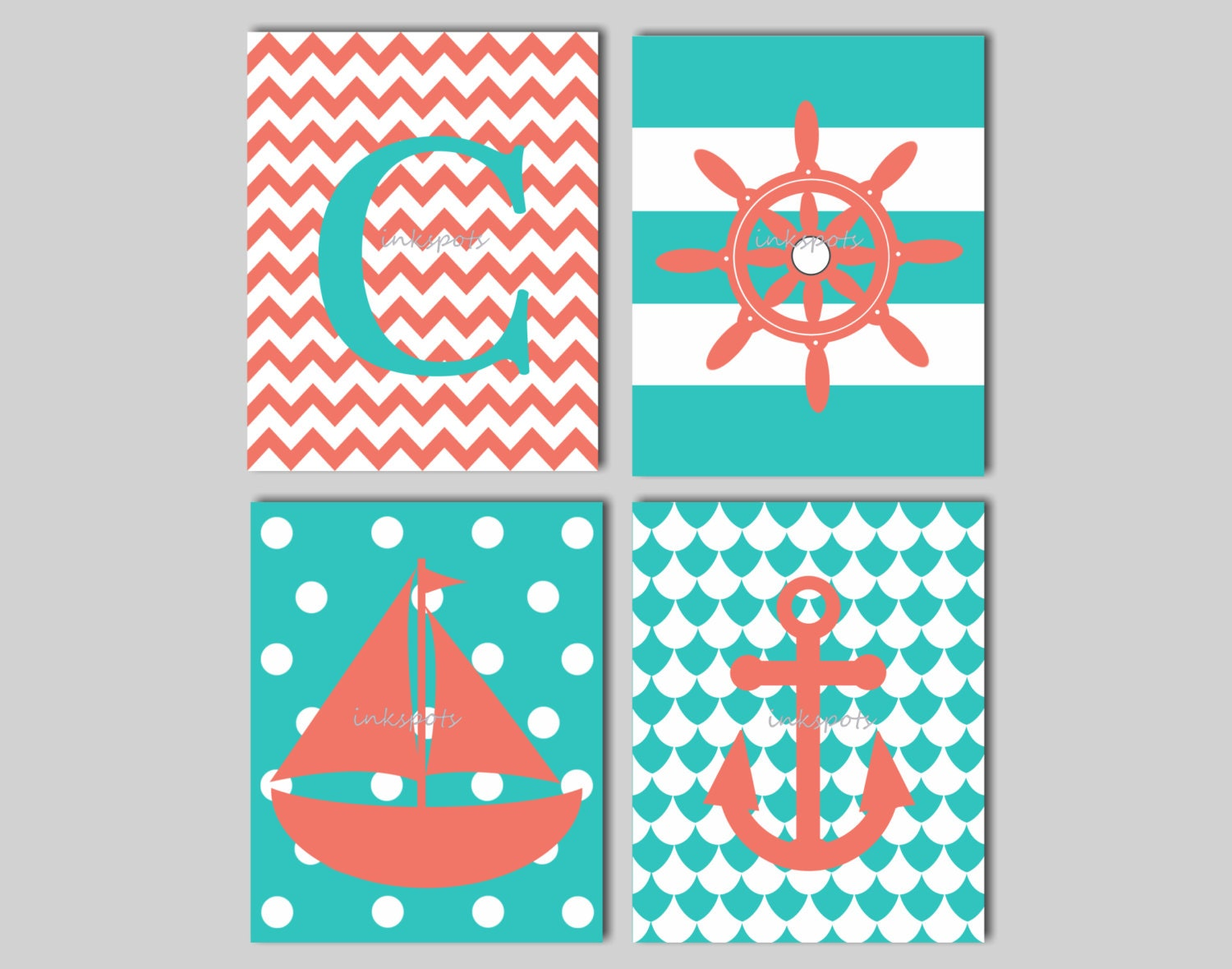 Nautical Nursery Print Kids Nautical Wall Art by ...