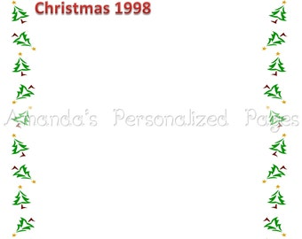 12x12 1-page Personalized Scrapbook  Paper (Christmas Frame 2)
