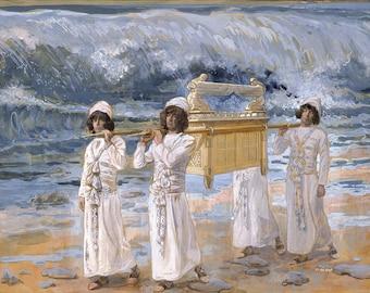 """James Tissot : """"The Ark Passes Over the Jordan"""" (c1896-1902) - Giclee Fine Art Print"""
