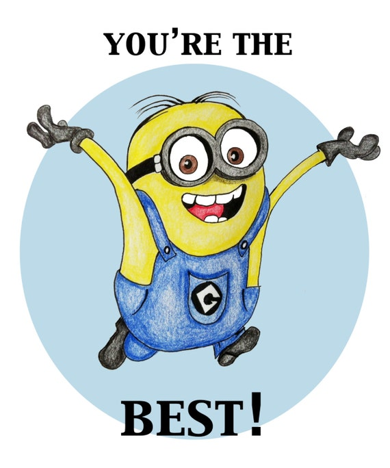 Items similar to You're the Best - Minion Card on Etsy