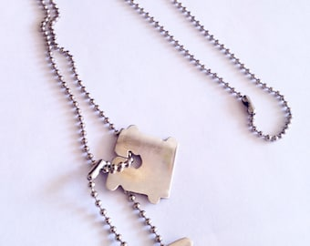 Bread Tag Dog Tags Necklace