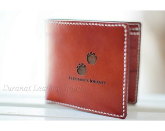 Leather Handmade Compact Wallet.