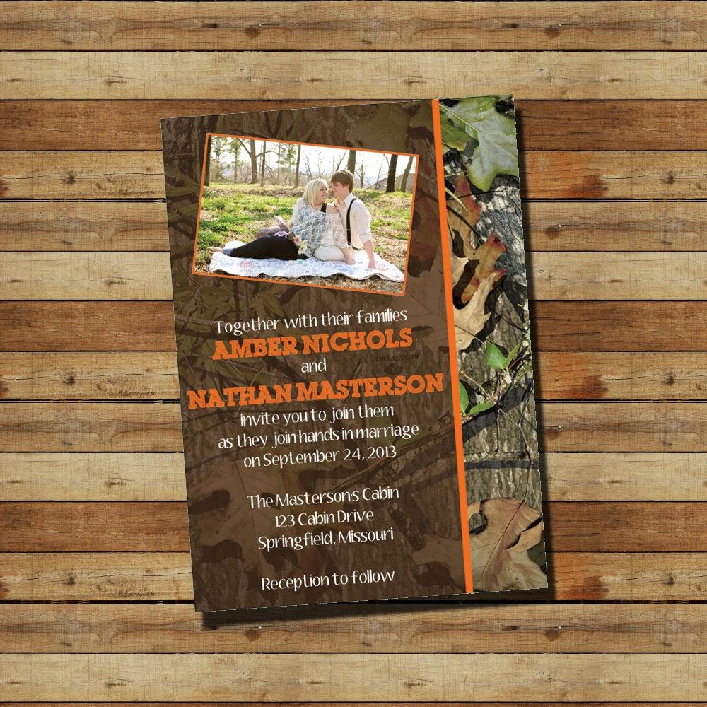 Camo Wedding Invitations To Make: CAMO Camouflage Wedding Invitation Digital By SprinklesOfSugar