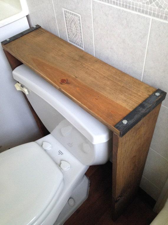 bathroom shelf over the toilet shelf reclaimed wood. Black Bedroom Furniture Sets. Home Design Ideas