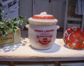 French Patiences miniature canister for Dollhouse  1:12 scale
