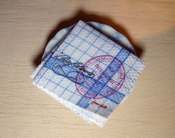Greengate Style Miniature Napkin for Dollhouse 1:12 scale