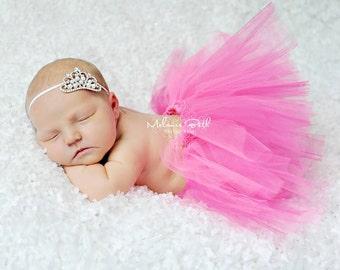 TUTU SKIRT...Hot Pink Tutu Skirt...Newborn Tutu...Baby Tutu...Toddler Tutu...Cakesmash Tutu...Birthday Tutu...Summer Dress