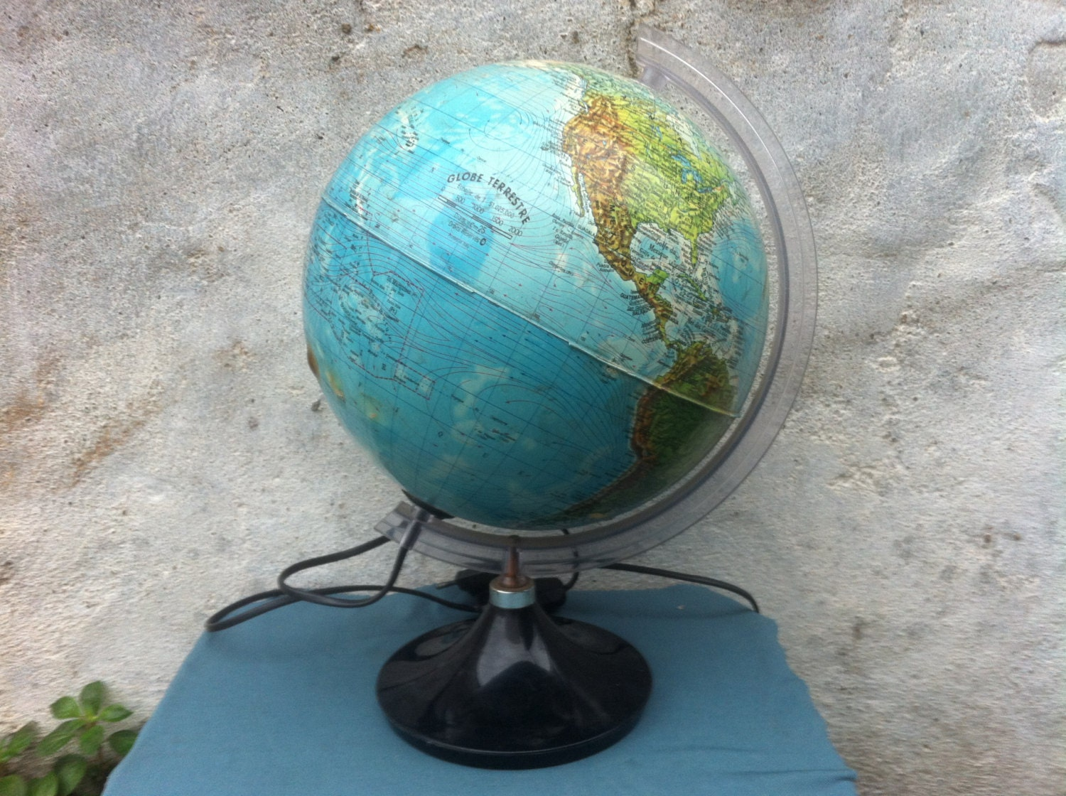 vintage world globe light up lampe mappemonde tecnodidattica. Black Bedroom Furniture Sets. Home Design Ideas