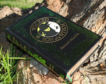 Hollow Book Safe - Wicked Son of a Witch - Leather Bound