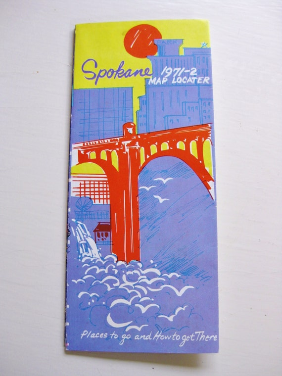 """1971-72 Spokane Washington map, """"Places to go and how to get there."""""""