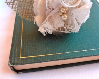 Guest Book Sharpie Pen-Rustic Vintage Wedding Pen-Burlap Flower Pen-Shabby flower pen