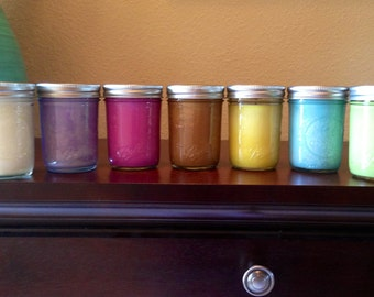 4 Soy Candles in 8 oz Ball Jars