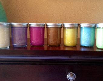 4pk Gain Soy Candles in 8 oz Ball Mason Jars.  Choose the scents you would like