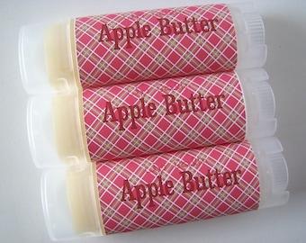 Apple Butter Flavor - Vegan Lip Balm - Natural Lip Butter - Fall Fruit Flavor - Bath and Beauty - Home and Living