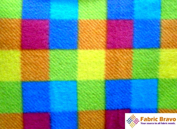 square spectrum anti pill plaid fleece fabric 60 by fabricbravo. Black Bedroom Furniture Sets. Home Design Ideas