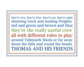 Thomas the Train Themed Artwork