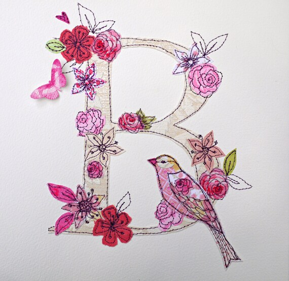 Made to order letter/initial mixed media art