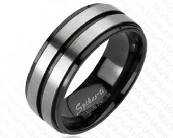 "Titanium Wedding Band, "" FREE ENGRAVING "" , Titanium engagement ring,  MMR-tm-3145"