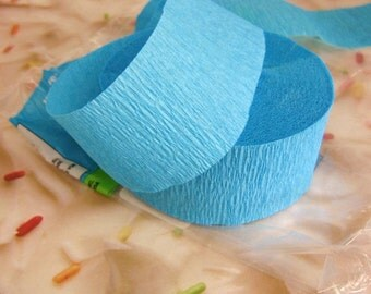 Crepe Paper Streamer Blue 81 foot x 1.75 inch Party Supply Birthday Shower Decor