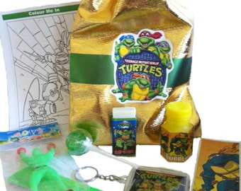 Niji Turtle party/loot bag with 9 great items inside