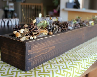 """Wood Table Centerpiece or Window Box, 48"""" long"""