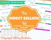 INSTANT DOWNLOAD - 19 Pdf Documents-The Direct Sellers Kit-Printables- For Sellers of Pampered Chef, Scentsy, 31, Origami Owl, etc.