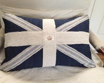 Dark Denim Union Jack Pillow