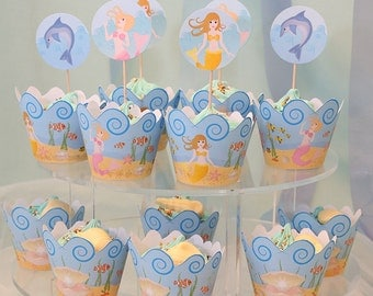 Mermaid Party Cupcake Wrappers