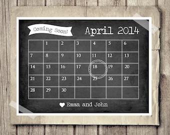 Baby announcement calendar | Etsy
