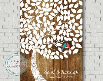 Unique Guest Book Print - Wedding Guest Book Poster - Guest Book Tree - Wishing Tree - Wedding Print - Bridal Gift - Wedding Gift Keepsake