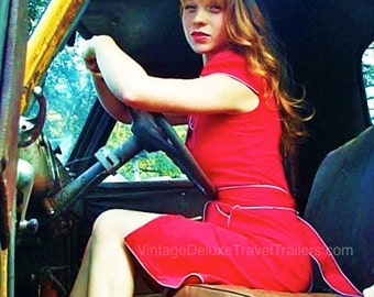 1947 Chevy Pickup - Vintage Red Dress
